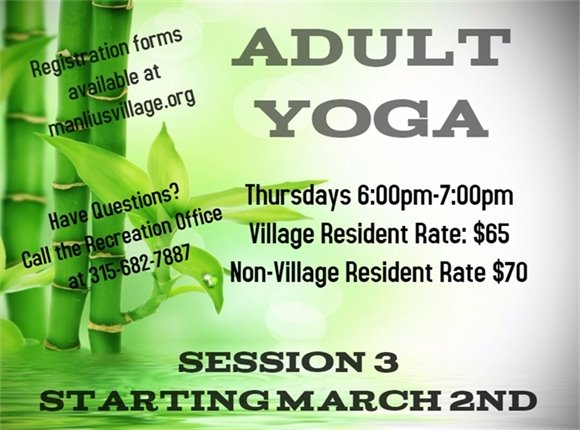 Adult Yoga Class Starting March 2nd!