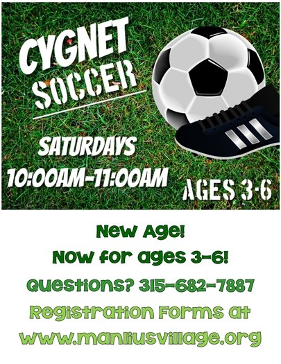 Cygnet Soccer Ages 3-6