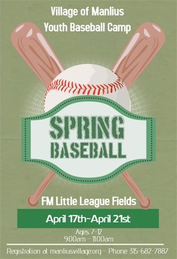 Baseball Camp from April 17th - April 21st