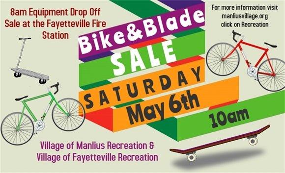 Bike and Blade Sale! May 6th!