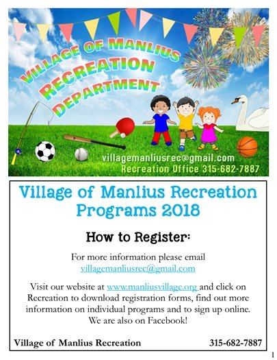 Village of Manlius Recreation Department