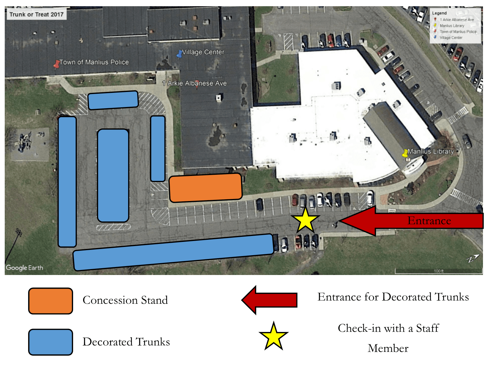 2017 Trunk or Treat Parking Lot Layout